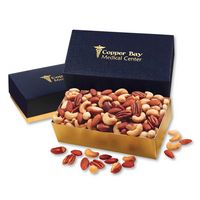 756071669-117 - Deluxe Mixed Nuts in Navy & Gold Gift Box - thumbnail