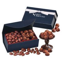 916071682-117 - Milk Chocolate Almonds & Cocoa Dusted Truffles in Navy Magnetic Closure Box - thumbnail