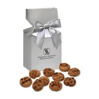 965705120-117 - Gourmet Bite-Sized Chocolate Chip Cookies in Silver Gift Box - thumbnail