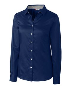 144939225-106 - Ladies' Clique® Bergen Stain Resistant Twill Shirt - thumbnail