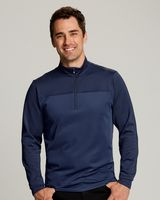 165706514-106 - Men's Cutter & Buck® Traverse Stripe Half-Zip Shirt (Big & Tall) - thumbnail