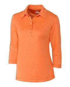 324493698-106 - Ladies' Cutter & Buck® 3/4-Sleeve Chelan Polo Shirt - thumbnail