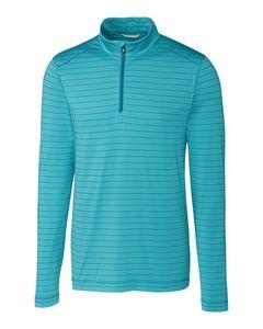 325706136-106 - Men's Cutter & Buck® Holman Stripe Half-Zip Shirt - thumbnail