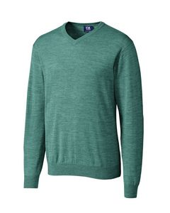 524494087-106 - Men's Cutter & Buck® Douglas V-Neck Sweater - thumbnail