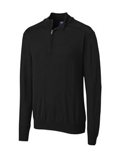 724494085-106 - Men's Cutter & Buck® Douglas Half-Zip Mock Sweater - thumbnail