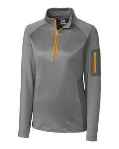 745260785-106 - Ladies' Cutter & Buck® Shaw Hybrid Half-Zip Shirt - thumbnail