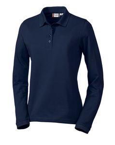 793186389-106 - Ladies' Clique® Elmira Long-Sleeve Polo Shirt - thumbnail