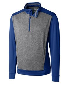 925437959-106 - Men's Cutter & Buck® Replay Half-Zip Shirt (Big & Tall) - thumbnail