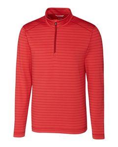 995706526-106 - Men's Cutter & Buck® Holman Stripe Half Zip Shirt (Big & Tall) - thumbnail