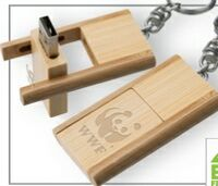 523299152-142 - Kayu Wood USB Flash Drive w/ Keychain (1 GB) - thumbnail