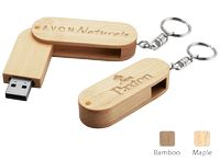 565395868-142 - Madera Wood USB Flash Drive w/ Keychain (16 GB) - thumbnail