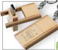 723299155-142 - Kayu Wood USB Flash Drive w/ Keychain (2 GB) - thumbnail