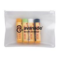 906322677-142 - Burt's Bees Set Of 4 Lip Balms + EVA Biodegradable Pouch - thumbnail