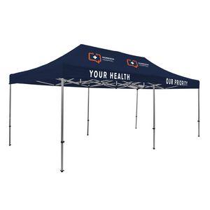 105009836-108 - Premium Aluminum 20' Tent Kit (Imprinted, 4 Locations) - thumbnail