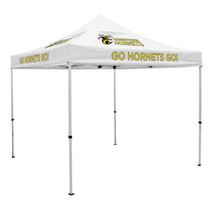 123728415-108 - Deluxe 10' Tent, Vented Canopy (Imprinted, 6 Locations) - thumbnail