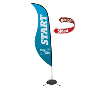 134032314-108 - 13' Premium Sabre Sail Sign, 2-Sided, Scissor Base - thumbnail