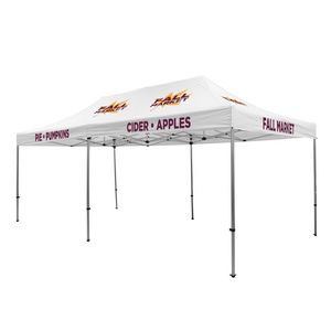 135009841-108 - Premium Aluminum 20' Tent Kit (Imprinted, 9 Locations) - thumbnail