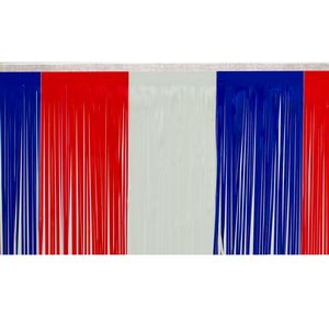 """176197737-108 - Victory Corps Color Block Red/White/Blue Fringe (15"""") - thumbnail"""