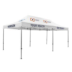 305009839-108 - Premium Aluminum 20' Tent Kit (Imprinted, 7 Locations) - thumbnail