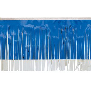 "366197666-108 - Victory Corps Metallic Blue & Standard White Fringe (15"") - thumbnail"
