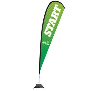 573728268-108 - 15' Premium Teardrop Sail Sign, 1-Sided, Scissor Base - thumbnail