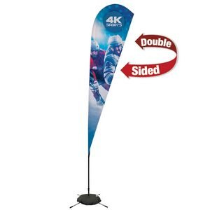705009632-108 - 11.5' Streamline Teardrop Sail Sign, 2-Sided, Scissor Base - thumbnail