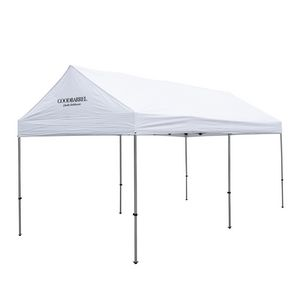 706185569-108 - 10' x 20' Premium Gable Tent Kit - 1 Location Imprint - thumbnail