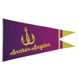 766058166-108 - Nylon Burgee Flag (Single-Sided) - 6' x 10' - thumbnail