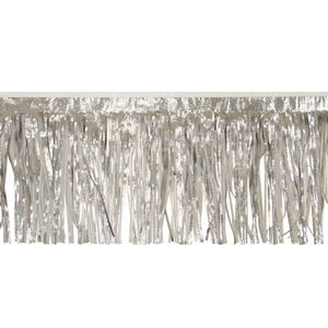"""916197818-108 - Victory Corps Embossed Silver and Standard White Fringe (15"""") - thumbnail"""