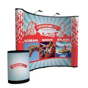 924022045-108 - 10' Curved Show 'N Rise Floor Display Kit (Full Mural) - thumbnail