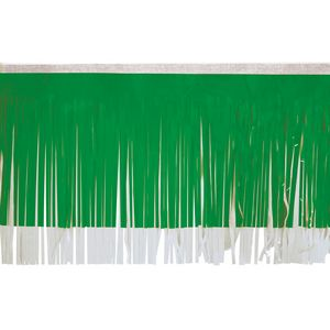 """936197655-108 - Victory Corps Standard Grass Green & White Fringe (15"""") - thumbnail"""