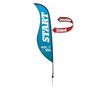 944032282-108 - 13' Premium Sabre Sail Sign, 2-Sided, Ground Spike - thumbnail