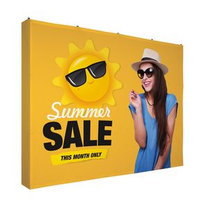 974284856-108 - 10' Straight Splash Floor Display 4-Sided Kit (Poly Knit) - thumbnail
