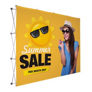 984021570-108 - 10' Straight Splash Floor Display Face Kit (Poly Knit) - thumbnail