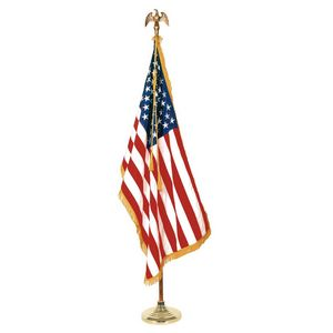 986220969-108 - 8' Deluxe Oak Flagpole Set with 3' x 5' Flag - thumbnail
