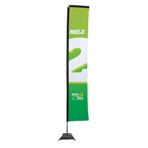 993728303-108 - 14.5' Premium Rectangle Sail Sign, 1-Sided, Scissor Base - thumbnail