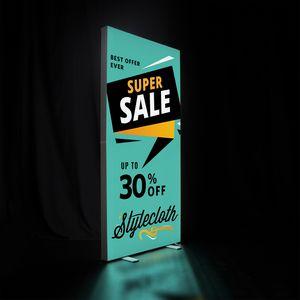 996448937-108 - 3' x 6.5' Deluxe SEG Glo Floor Display Kit - thumbnail