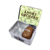 115961796-134 - Retro Lunchbox + Single 10oz Stemless Wood Tone Wine Glass In Vacuum Insert - thumbnail