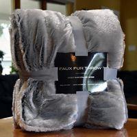 136156360-134 - Faux Fur Throw - thumbnail