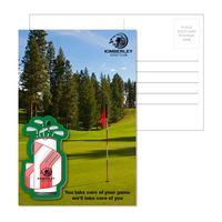 385956933-134 - Post Card With Full-Color Golf Bag Luggage Tag - thumbnail