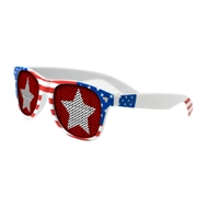555066519-134 - Lenstek USA Patriotic Miami Sunglasses - thumbnail