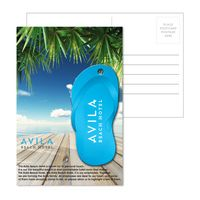 555956926-134 - Post Card With Full-Color Blue Flip Flop Luggage Tag - thumbnail