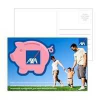 565956897-134 - Post Card with Full Color Piggy Bank Coaster - thumbnail