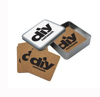 765623457-134 - Cork Coaster Set in Square Tin - thumbnail