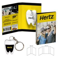 795927299-134 - Tek Booklet with Tooth Shaped Dental Floss With Key Chain - thumbnail