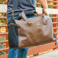 966111623-900 - Danville Duffel - Black Canvas - thumbnail