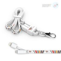 715904766-107 - Lanyard 2-in-1 Lanyard and Micro USB Charging Cable w/ Apple Lightning Tip - thumbnail